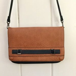FRENCH CONNECTION Tan Leather Crossbody Purse